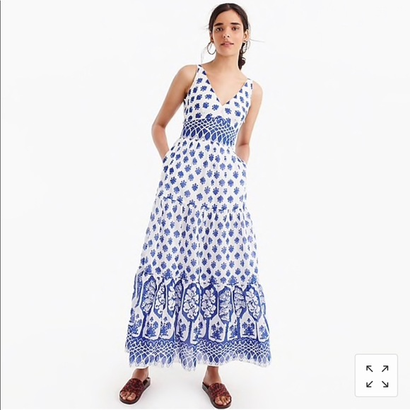 1bbe2aef5b4 JCrew Santorini maxi dress